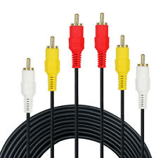 3 RCA Macho a 3 RCA Macho Cable AV Video y Audio Estéreo 1,5m 3m  para TV DVD