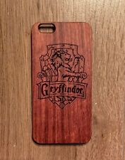 Harry Potter Griffindor Engraved Real Rose Wood Backed Phone Case - For iPhone