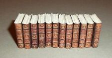 Antique Encyclopaedia Britannica style 12 books for dolls house, handmade, 1:12