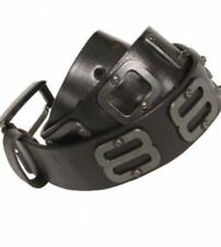 Police 883 Jambo Black Leather Belt