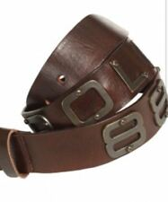 Police 883 Jambo Brown Leather Belt