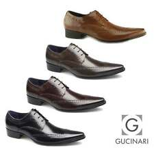Gucinari AREZZO II Mens Leather Lace Up Cuban Heel Formal Dress Evening Shoes