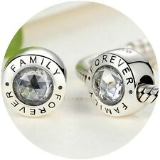 Family Forever i Love you Charm Bead Genuine Sterling Silver xmas gift