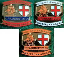 Holland v England 2009 Friendly Amsterdam Arena 12 August 2009 Pin Badge