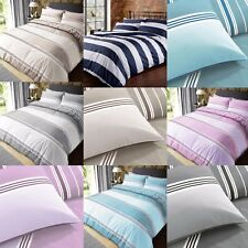 Banded Stripe Bold Lines Duvet Quilt Cover Bedding Set with Pillowcases
