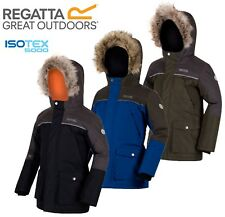 REGATTA BOYS THERMO-GUARD INSULATED WATERPROOF BREATHABLE PAXTON PARKA JACKET
