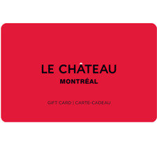 LE CHÃTEAU Gift Card $25, $50, or $100 - Email Delivery