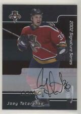 2001-02 In the Game Be A Player Signature Series #133 Joey Tetarenko Auto Card