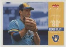 2006 Fleer Greats of the Game Decade #DEC-PM Paul Molitor Milwaukee Brewers Card