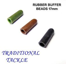 RUBBER BUFFER BEADS 17mm  GREEN/ BROWN/ BLACK - CHOD/HELICOPTER/RUNNING RIGS