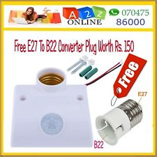 PIR Motion Sensor Energy Saving Socket With Free Lamp Worth Rs.200+Warranty 3M #