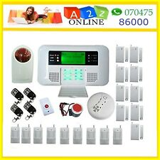 SIM Card GSM Alarm System Quad Band Wireless Wired Sensors For Home  Security #
