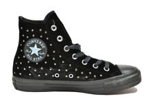 CONVERSE All Star CT Hi Velvet nero sneakers scarpe donna ragazza mod. 558991C