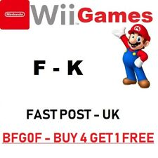 Nintendo Wii Games  F - K  =ALPHABETICAL SEARCH=Fast Post u k = MORE ADDED 22/6