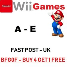Nintendo Wii Games= A - E =ALPHABETICAL=Make ur bundle=FAST u k=MORE ADDED 22/6