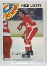 1978-79 O-Pee-Chee #251 Nick Libett Detroit Red Wings Hockey Card