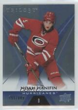 2016-17 Upper Deck Trilogy Blue #34 Noah Hanifin Carolina Hurricanes Hockey Card