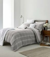 Grey & White Check VERBIER Brushed Cotton Duvet Cover, Pillowcase or Sheets.
