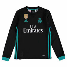 Real Madrid Fútbol Away Camiseta 2017 18 Niños Manga Larga adidas