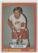 1973-74 Topps #141 Alex Delvecchio Detroit Red Wings Hockey Card
