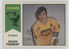 1974-75 O-Pee-Chee WHA #7 Rosaire Paiement Chicago Cougars (WHA) Hockey Card