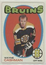 1971-72 Topps #129 Wayne Cashman Boston Bruins Hockey Card