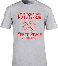 Paz Camiseta ANTI-TERROR if there were a Dios Anti Guerra ATEO LOVE PALOMA