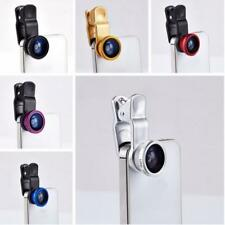 3 in1 Clip on Fisheye Wide Angle Macro Lens for iPhone 6 7 Samsung Galaxy S6