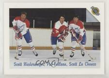 1991-92 Ultimate #56 Scott Niedermayer Pat Falloon Lachance Rookie Hockey Card