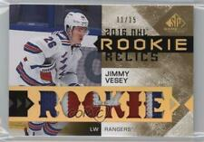 2016 Upper Deck SP Game Used Rookie Relics Blends Patch #RRB-JV Jimmy Vesey Card
