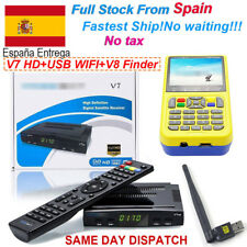 FTA DVB-S2 V7HD Satellite TV Receiver+USB Wifi Antenna+V8 Finder support Bisskey