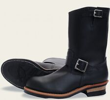 Red Wing  Mens Boots 2268 11-Inch Engineer Heritage Work Black Chrome  Black