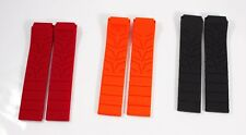 Silicone Rubber Strap Band for Tissot Sport Watch T-Race 21mm- Orange-Red-Black