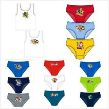 Boys Paw Patrol 3 Pack Briefs Underwear Pants or 2 Pack Vests Cotton Character