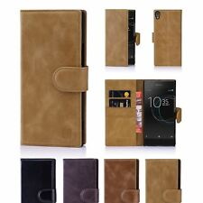 32nd Premium Series - Real Leather Book Wallet Case Cover For Sony Xperia XA1