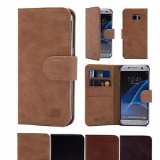 32nd Premium Series - Real Leather Book Wallet Case For Samsung Galaxy S7 Edge