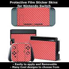 Removable Film Sticker skin wrap cover for Nintendo Switch Console +Controllers