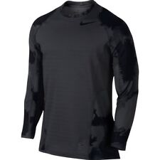 Nike Pro Hyperwarm Men`s Fitted Top Shirt 801994 060 Black/Grey