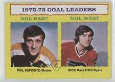 1973 Topps #1 Phil Esposito Rick MacLeish Boston Bruins Philadelphia Flyers Card