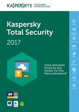 Kaspersky Total  Security  2017 - 1 / 3 / 5 / 10  PC - 1 und 2 Jahr - ESD - MD