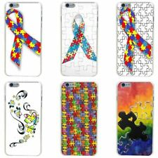 Puzzle Autism Awareness Style Hard Transparent Painted Cover for iphone 4 4s 5 5