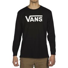VANS CLASSIC LONG SLEEVE T SHIRT  BLACK WHITE