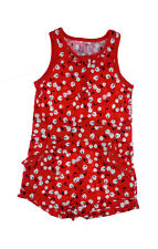 Girls Baby Girls Jumpsuit Top Kids Red Cherries print Playsuit 12/18 - 5/6 yrs