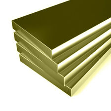 Solid BRASS FLAT BAR Strip plate - 28 Different Sizes Available & 17+ Lengths