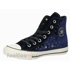 Scarpe Converse All Star CT Hi 558993C sneakers donna eclipse blue velvet studs