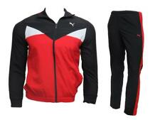 Puma Tracksuit Junior Boys Woven Top & Pant Red/Black Full Zip Top  832097