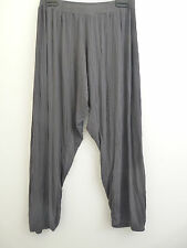 Join Clothes Size Small Rib Jersey Crop Trousers Charcoal Grey