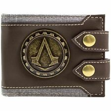 Assassins Creed Leather Wallet Syndicate UNITY Red Black Bi Fold Card PS4 Xbox