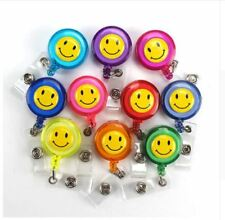 SMILEY FACE Retractable Reel yoyo ID Badge Holder/Key Card Chain /Security