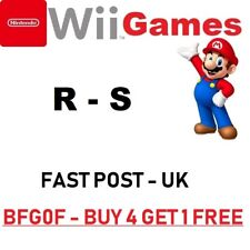 Nintendo Wii Games= R- S =ALPHABETICAL-Mario Sonic=FAST POST U K=MORE ADDED 22/6